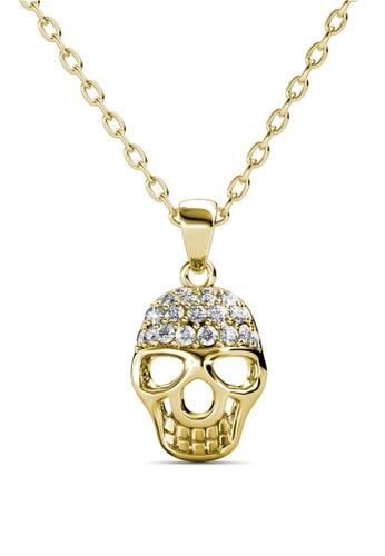 Buy her jewellery skull pendant yellow gold crystals from her jewellery brown skull pendant yellow gold crystals from swarovski he210ac0fi4msg1 mozeypictures Images