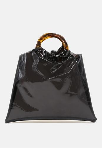 London Rag black Premium tote bag with round handles E8FC7AC532B2F2GS_1