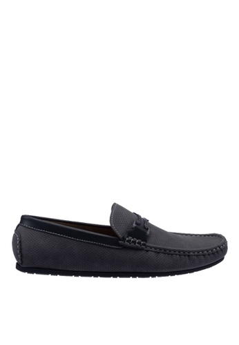Antton & Co grey Antton & Co Ermal-Buckle Loafer In Grey E4712SHEAC14A5GS_1