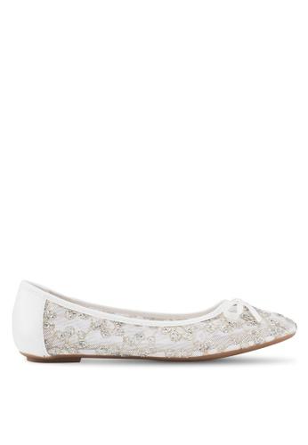 Carlton London 白色 蕾絲拼接平底鞋 B80FFSH5FE533FGS_1