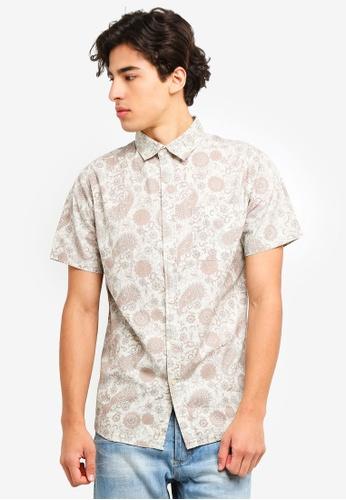 Cotton On 多色 復古印花短袖襯衫 17F37AAC639F92GS_1