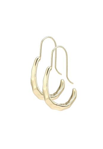 Red's Revenge gold Hammered Hoop Earrings 7E70EAC5A989D8GS_1