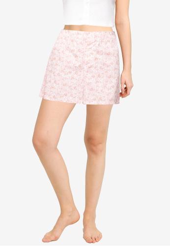 GAP pink Poplin Shorts D3918AADEB317EGS_1
