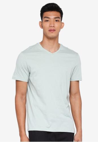 Burton Menswear London 綠色 Green V-Neck T-Shirt E65A1AA9F965DBGS_1
