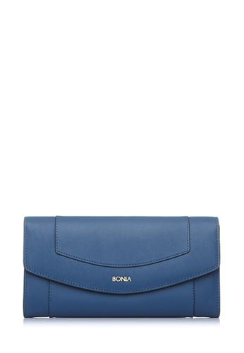 BONIA blue Blue Soho Two Fold Wallet 532F7AC0AED4EAGS_1