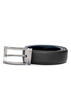 【ZALORA】 Criss Cross Leather 針扣牛皮皮帶