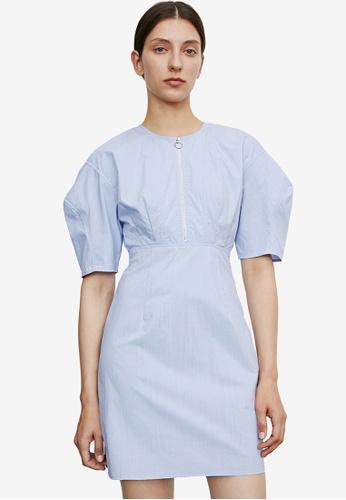 URBAN REVIVO blue Casual Dress 6CA81AA55C9648GS_1