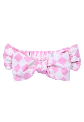 lil' notre pink Kids Batik Bandana 0A3F2KC21DE62BGS_1