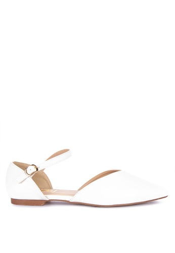 Sofab! white Shirley Pointed Flats 7D7CFSH6CF05CEGS_1