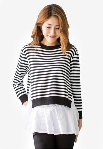 Tokichoi black Striped Sweater Top 53E83AA1C49BA0GS_1