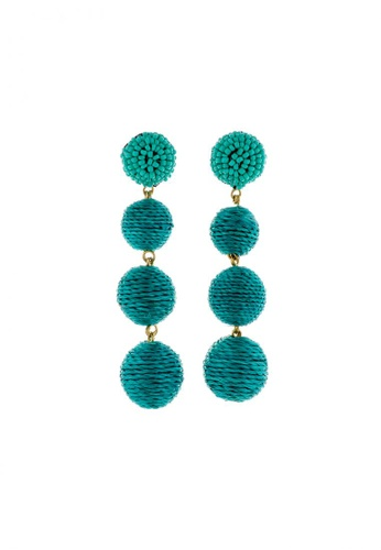 Style Cat green and blue Style Cat Palm Springs Ball Earrings 7ABB3AC5D591A6GS_1