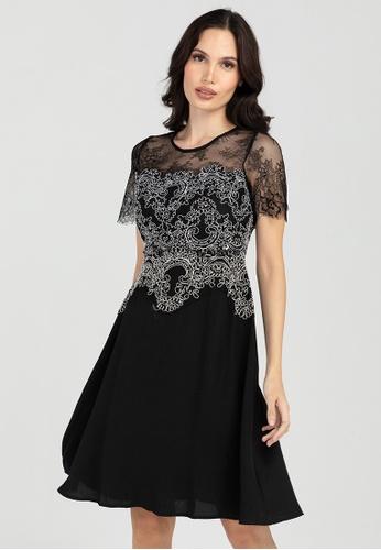 BA&DO black Sampson Lace Top Dress 1A3BFAAE68459BGS_1