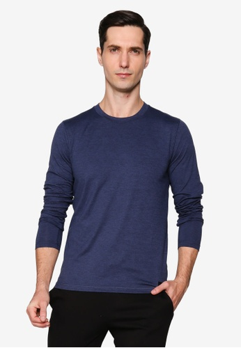 Abercrombie & Fitch blue Long Sleeves Traveler Tee E826BAA1AA8D97GS_1