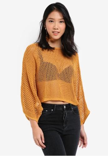 Mango yellow Dolman-Sleeve Sweater BE666AAD9A0FB5GS_1