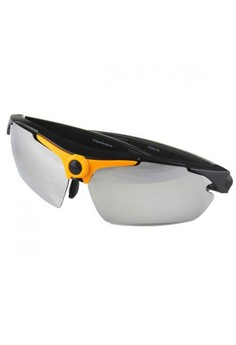 Sports Sunglass With HD Video Camera - Orange