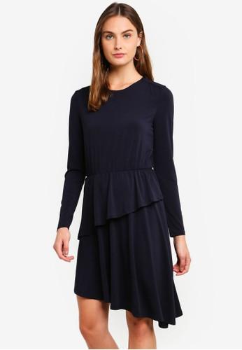JACQUELINE DE YONG navy Esther Dress 75BA1AA373F989GS_1