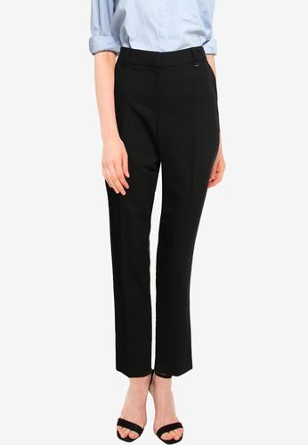 Dorothy Perkins black Black D-Ring Trousers AB90CAAC6D2101GS_1