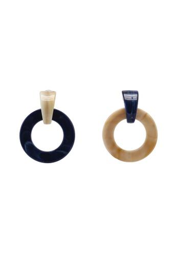 Saturation multi Travertine Mismatch Earrings 6DD88ACDFCA808GS_1