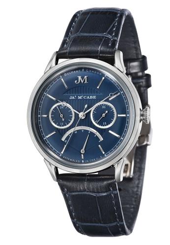 James McCabe blue James Mccabe Men's Genuine Leather Strap Watch - JM-1026-03 E23CBACF0E11CAGS_1