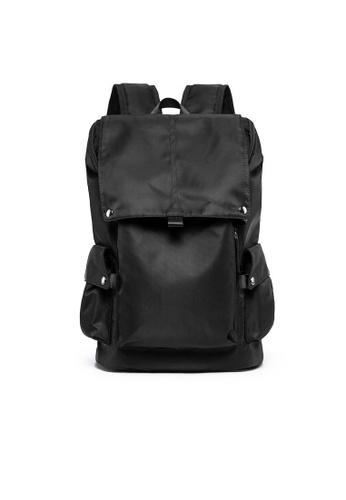Lara black Men's Front Flap Backpack 47A66ACEFA9D8DGS_1
