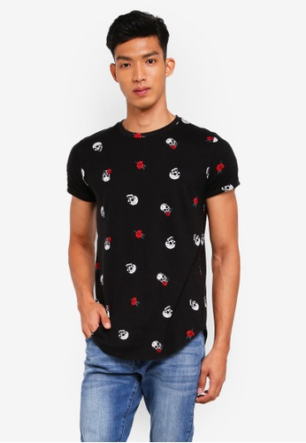Hollister black Core Icon Curved Hem T-Shirt CBA06AABEAA910GS_1