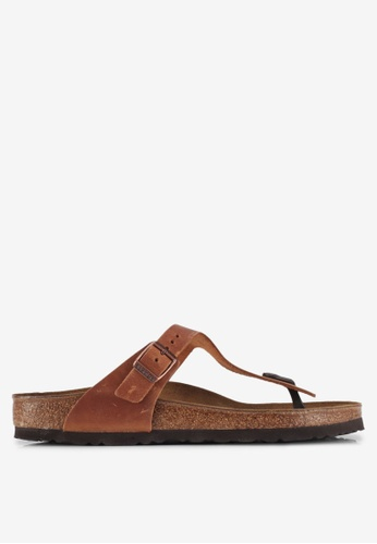 Birkenstock brown Gizeh Sandals C78C4SH12766ADGS_1