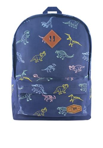 Ripples blue Dinosaur Backpack 49C39AC4D2303AGS_1