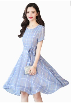 07a2b53adfad Halo blue Quilted Shift A Line Dress 24C51AAA018595GS_1