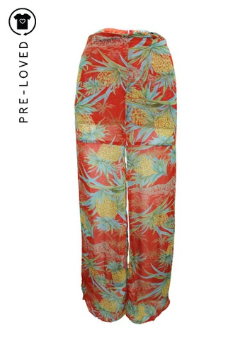 Reformation multi Pre-Loved reformation Long Skirt with Pineapple Print AD7A1AA7758B8FGS_1
