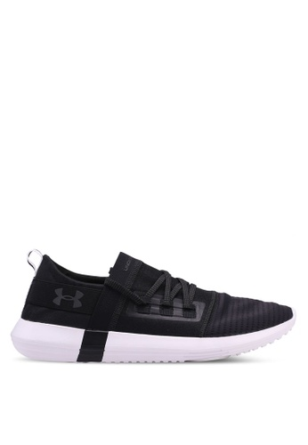 Under Armour black UA Adapt Shoes B5FDBSHF397B70GS_1