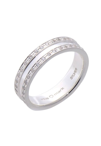 The LoveMark silver Double Eternity Ring with Artificial Diamonds for Women lr0024f TH516AC94VHPPH_1