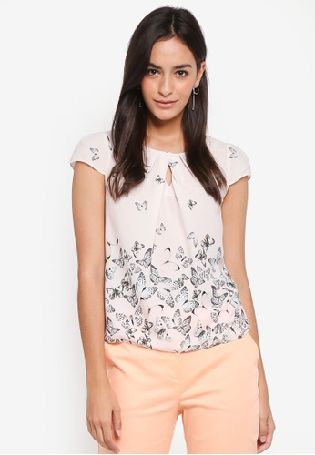 Dorothy Perkins pink Billie & Blossoms Petite Blush Butterfly Top FDD4DAA8C68FB2GS_1