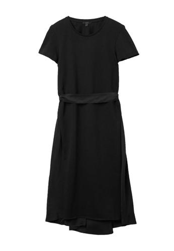 COS black Belted Silk Dress 6C639AAAD1ECB2GS_1