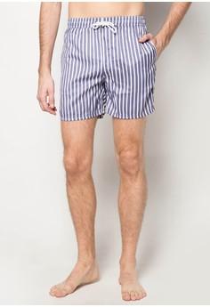 Vertical Stripes Swim Shorts