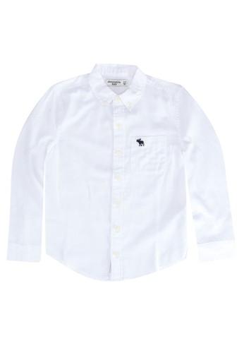 Abercrombie & Fitch white Classic Preppy Shirt 37295KA99D2444GS_1