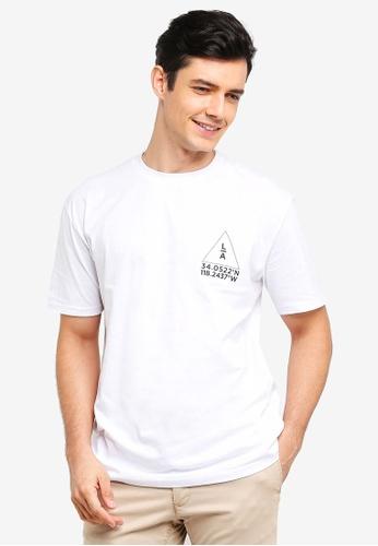 Factorie 白色 短袖印花T恤 87905AA1EA60F4GS_1