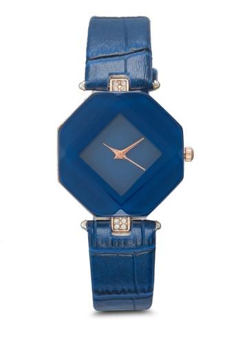 棱柱體esprit旗艦店仿皮鱷魚紋手錶, 錶類, 時尚型