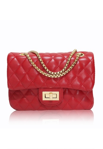 Dazz red Quilted Crossbody Bag (L) - Red DA408AC02JENMY_1