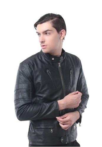 Crows Denim black Crows Denim - Jaket Leather Biker Style CR199AA70CNLID_1