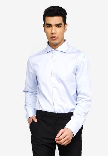 BOSS 藍色 T-Christo Long Sleeve Shirt D2EF3AA5C82861GS_1