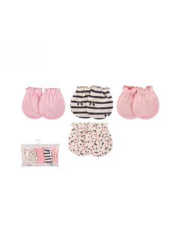 Little Kooma pink Baby Scratch Mittens Set 4 Pairs 52328 - 1006 62A7AKCC5F9538GS_1