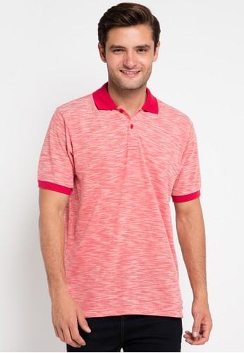 Contempo red Polo Shirt S/S CO339AA0UVYAID_1