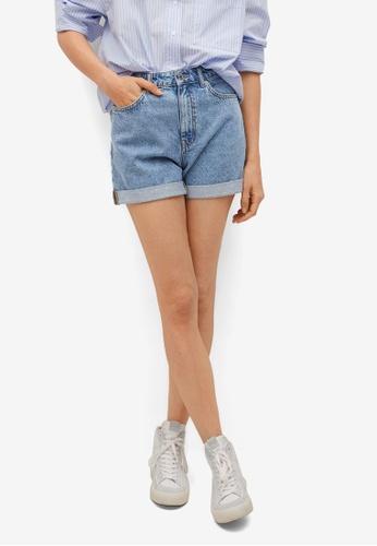 Mango blue Mom-Fit Denim Shorts 9A058AA7F9358DGS_1