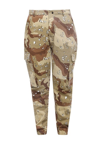 MISSGUIDED beige Plus Size Combat Trousers 111D2AAD8C8BF2GS_1