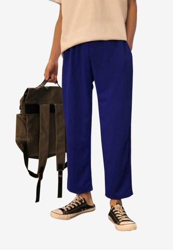 hk-ehunter blue Men Stripe Sweatpants 76846AAA41913FGS_1