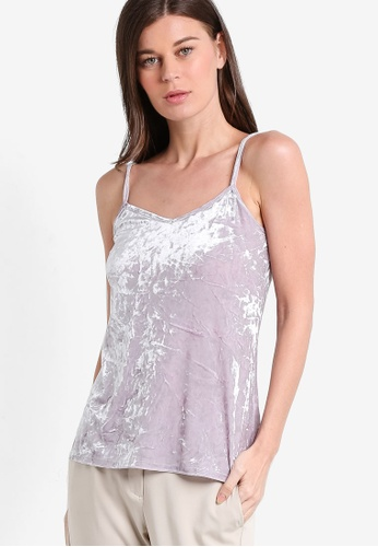 Dorothy Perkins purple Lilac Velvet Cami DO816AA51RBKMY_1