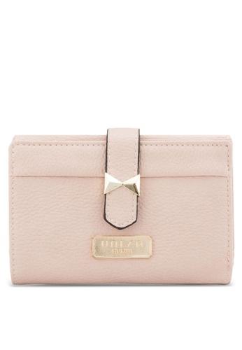 Unisa pink Unisa Pebbled Texture Bi-Fold Medium Ladies Wallet UN821AC96EFBMY_1