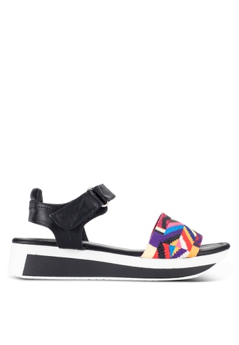 Nose black and multi Ethnic Colorful Strap Wedge Sandals NO327SH57IJEMY_1