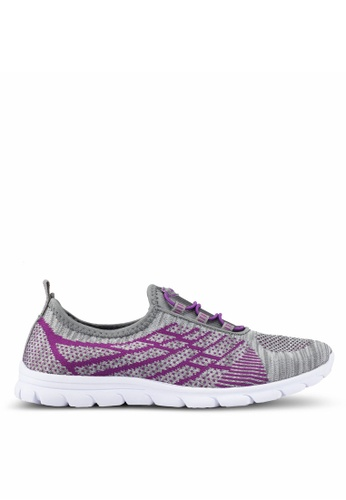 Spiffy grey Feather Weight Ladies Running Sport Shoes 959E1SH4662CCAGS_1