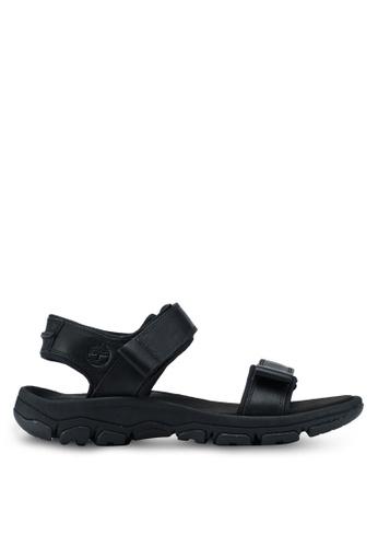 Timberland black Roslindale 2-Strap Sandals F4FE5SHF366B5AGS_1